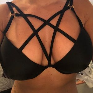 Caged Swim Top
